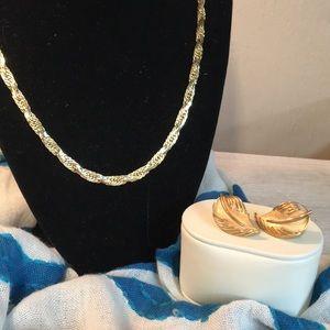 Trifari Necklace & Clip Ons